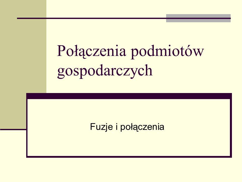 Literatura 1.W. Frąckowiak (red.) Fuzje i przejęcia, PWE, Warszawa 2009.