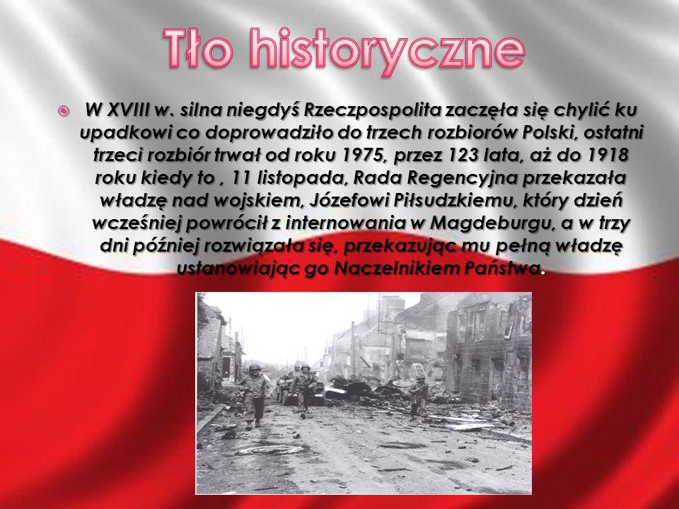 11 listopada 1918 - przekazanie przez Radę Regencyjną władzy wojskowej Józefowi Piłsudskiemu.