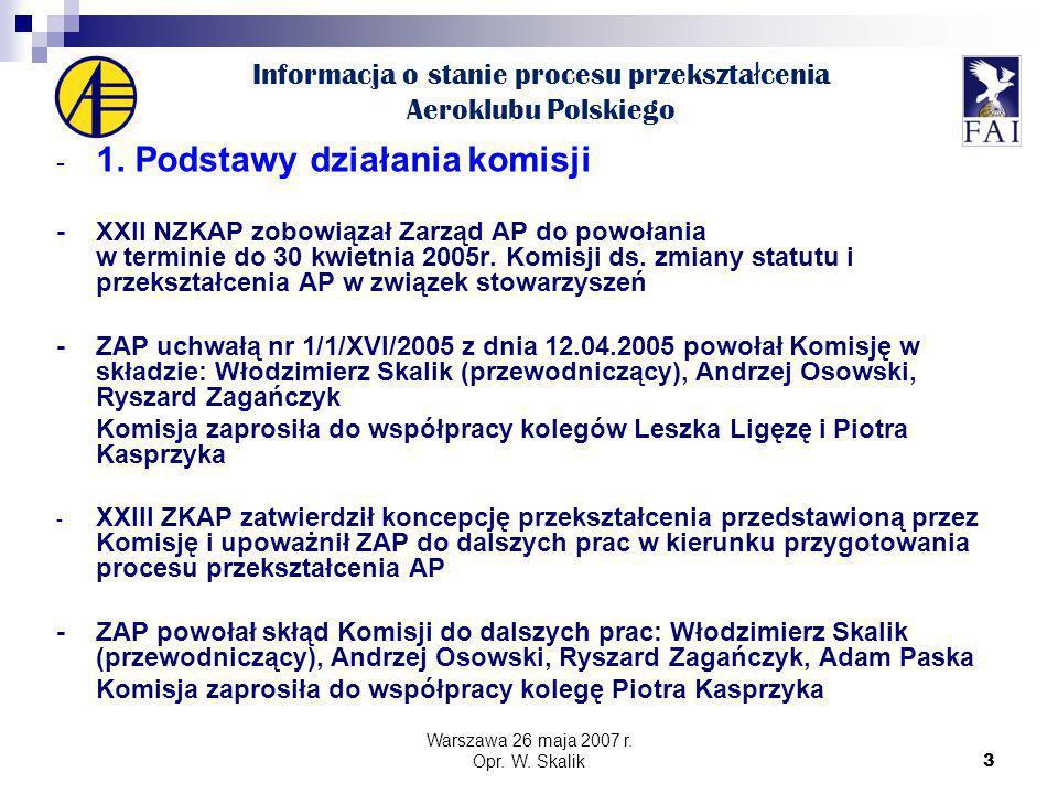 3 Informacja o stanie procesu przekszta ł cenia Aeroklubu Polskiego - 1.