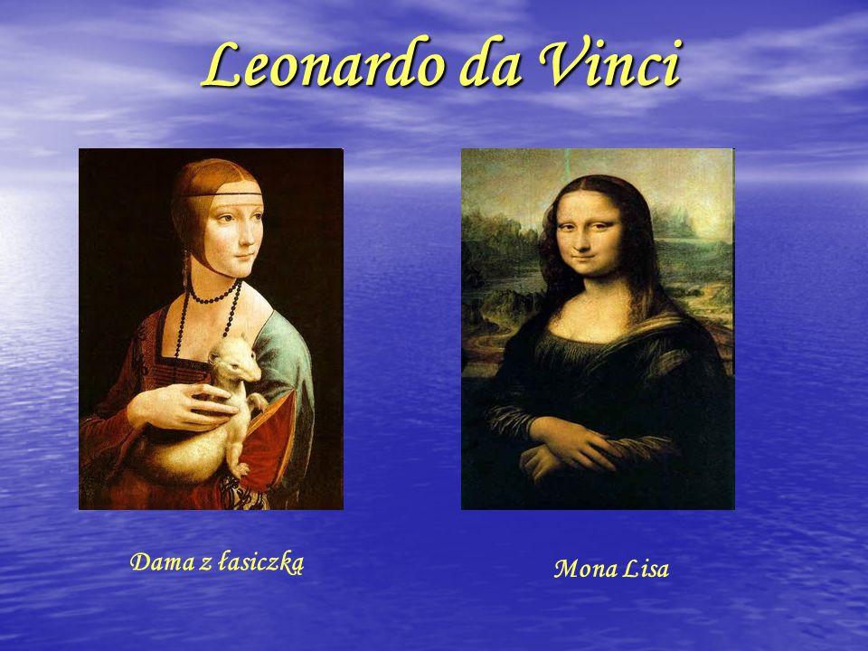 Leonardo da Vinci Dama z łasiczką Mona Lisa
