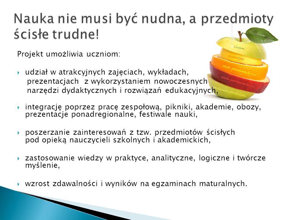 Po przejściu oceny formalnej i merytorycznej nadesłanych aplikacji zgłoszeniowych 40 szkół z województw: lubuskiego, pomorskiego, wielkopolskiego i zachodniopomor-skiego, obejmujących 1800 uczniów, w tym ZSP im.