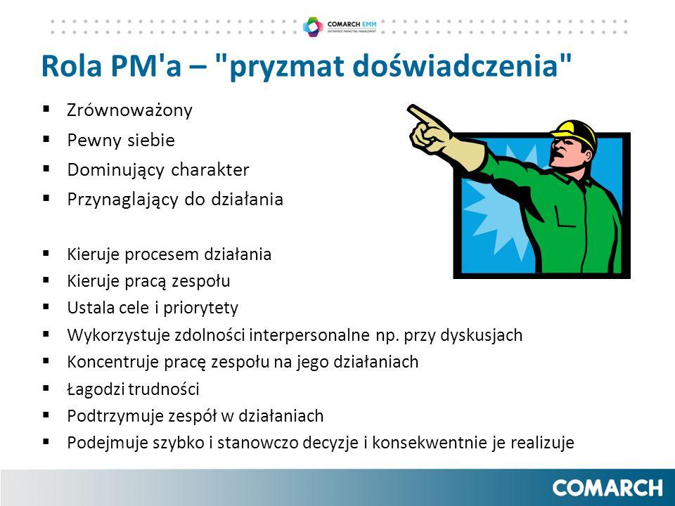 Rola PM'a –