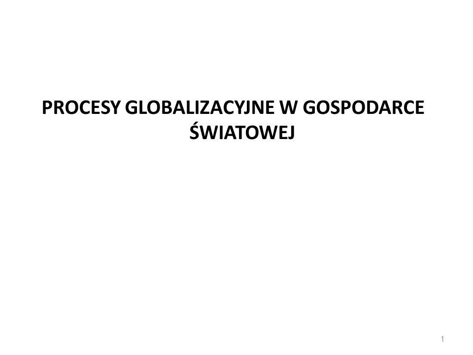 PROCESY GLOBALIZACYJNE W GOSPODARCE ŚWIATOWEJ 1