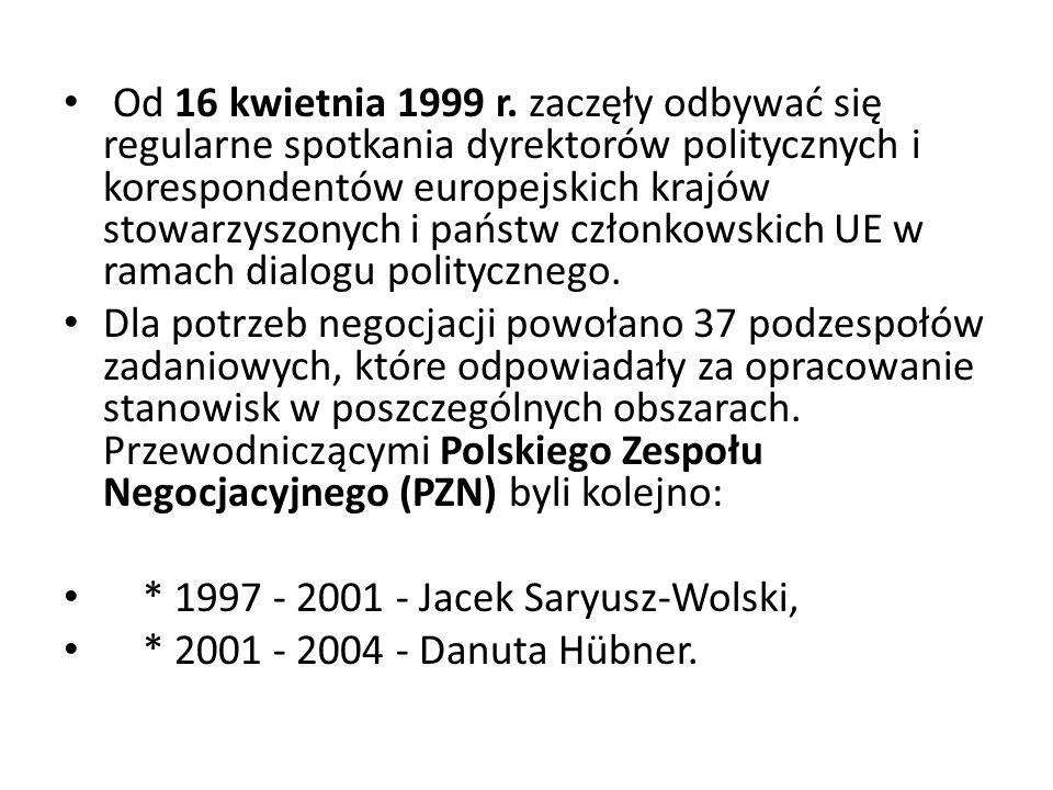 Od 16 kwietnia 1999 r. zaczęły odbywać się regularne spotkania dyrektorów politycznych i korespondentów europejskich krajów stowarzyszonych i państw c