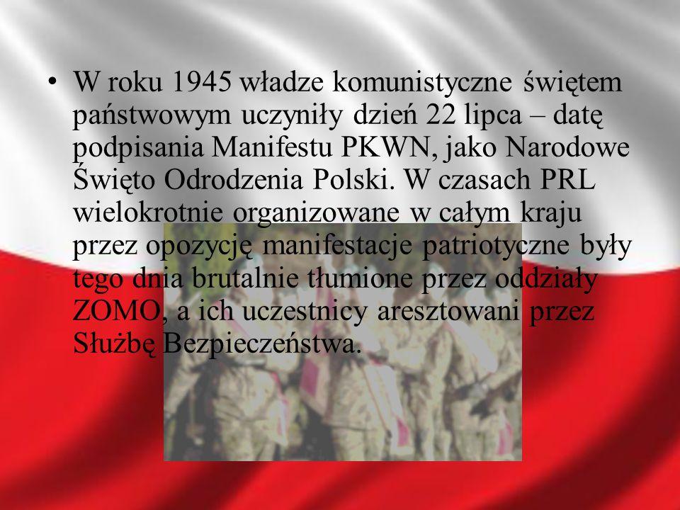 Święto obchodzone 11 listopada zostało przywrócone przez Sejm PRL-u IX kadencji ustawą z 15 lutego 1989 (Dz.U.