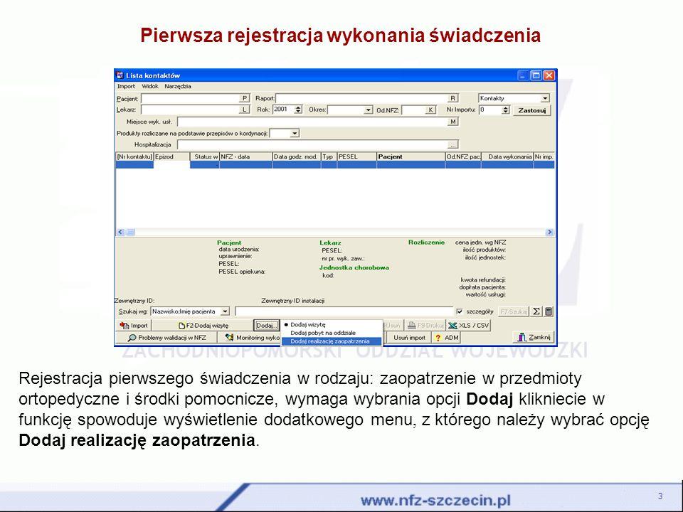 Zgodnie z procedurą, po wygenerowaniu komunikatu ZPX, plik z danymi zostaje przesłany do OW NFZ.