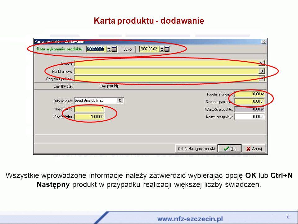 Dziękujemy za uwagę! szoi@nfz-szczecin.pl 19