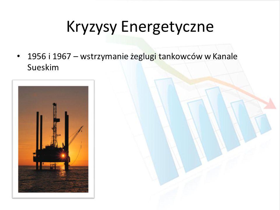 Kryzysy Energetyczne 1956 i 1967 – wstrzymanie żeglugi tankowców w Kanale Sueskim