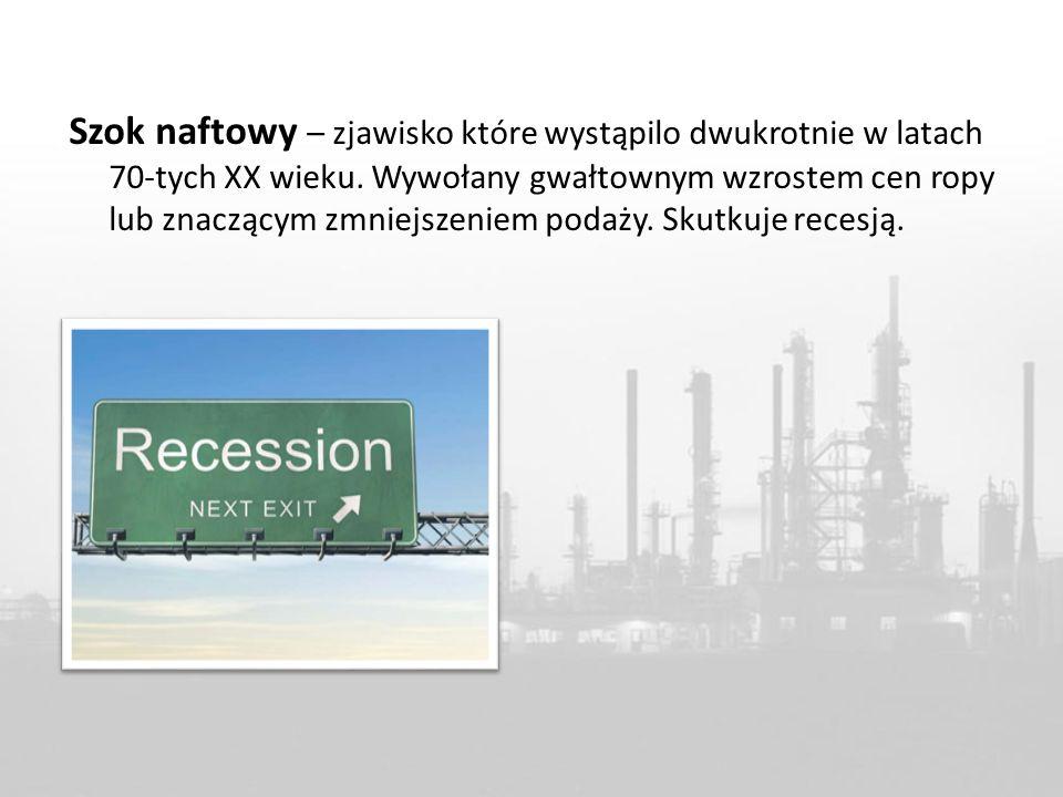 Szok naftowy – zjawisko które wystąpilo dwukrotnie w latach 70-tych XX wieku. Wywołany gwałtownym wzrostem cen ropy lub znaczącym zmniejszeniem podaży