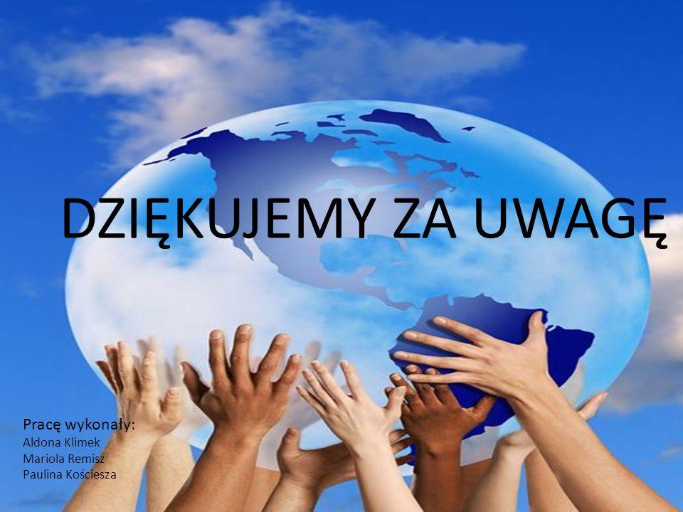 DZIĘKUJEMY ZA UWAGĘ Pracę wykonały: Aldona Klimek Mariola Remisz Paulina Kościesza