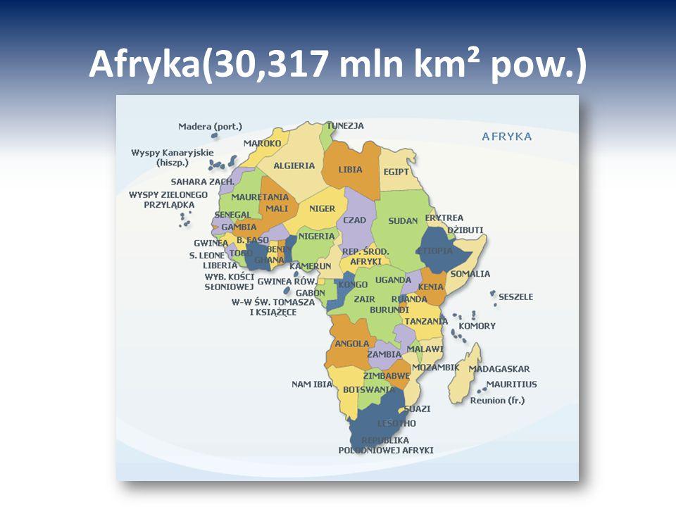 Afryka(30,317 mln km² pow.)