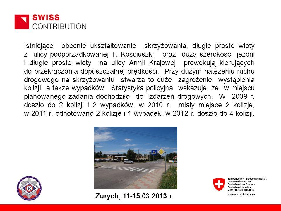 Schweizerische Eidgenossenschaft Confédération suisse Confederazione Svizzera Confederaziun svizra Confoederatio Helvetica Konfederacja Szwajcarska Zurych, 11-15.03.2013 r.