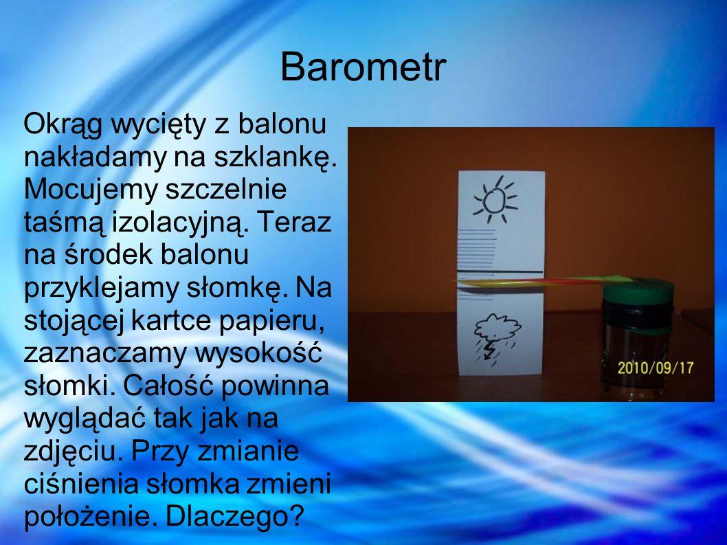Wyjaśnienie Balonik jest elastyczny, przez co reaguje na zmiany ciśnienia.