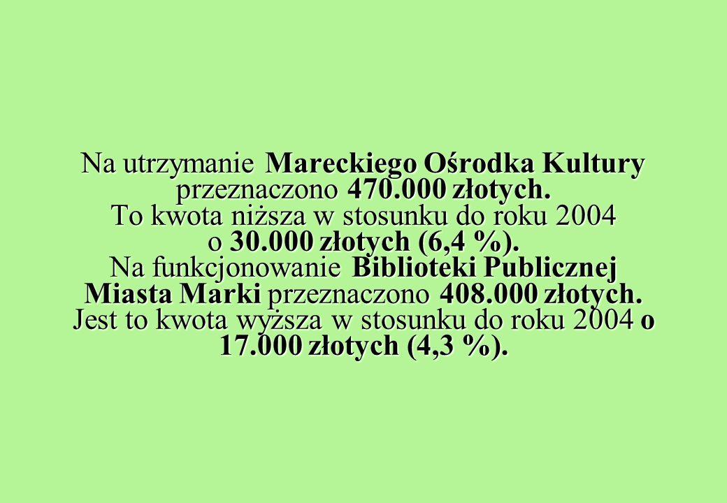 Na utrzymanie Mareckiego Ośrodka Kultury przeznaczono 470.000 złotych.