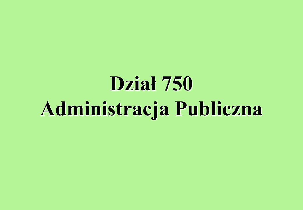 Dział 750 Administracja Publiczna