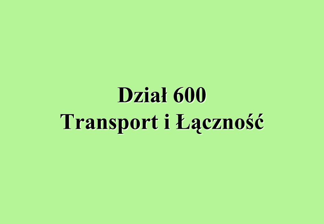 Dział 600 Transport i Łączność