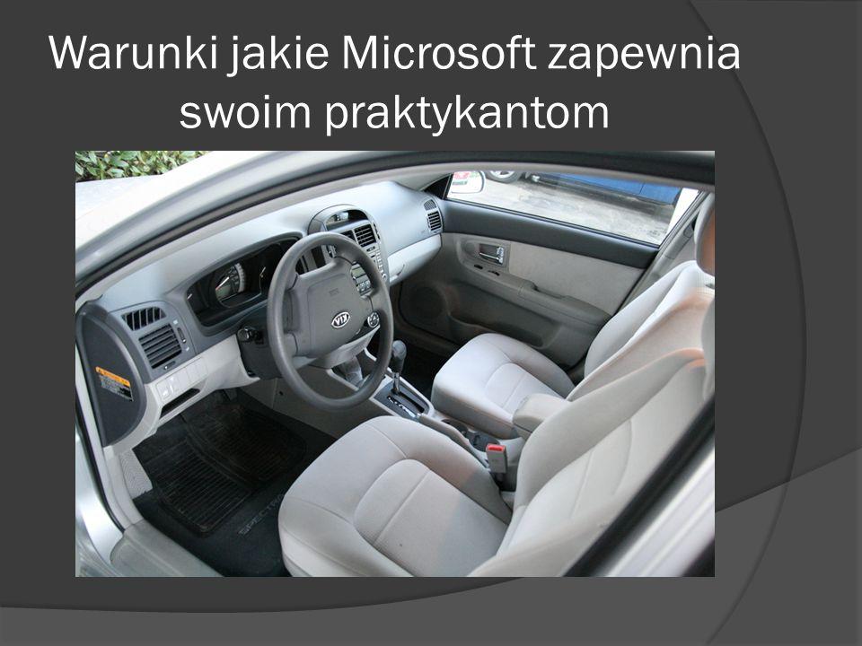 Warunki jakie Microsoft zapewnia swoim praktykantom