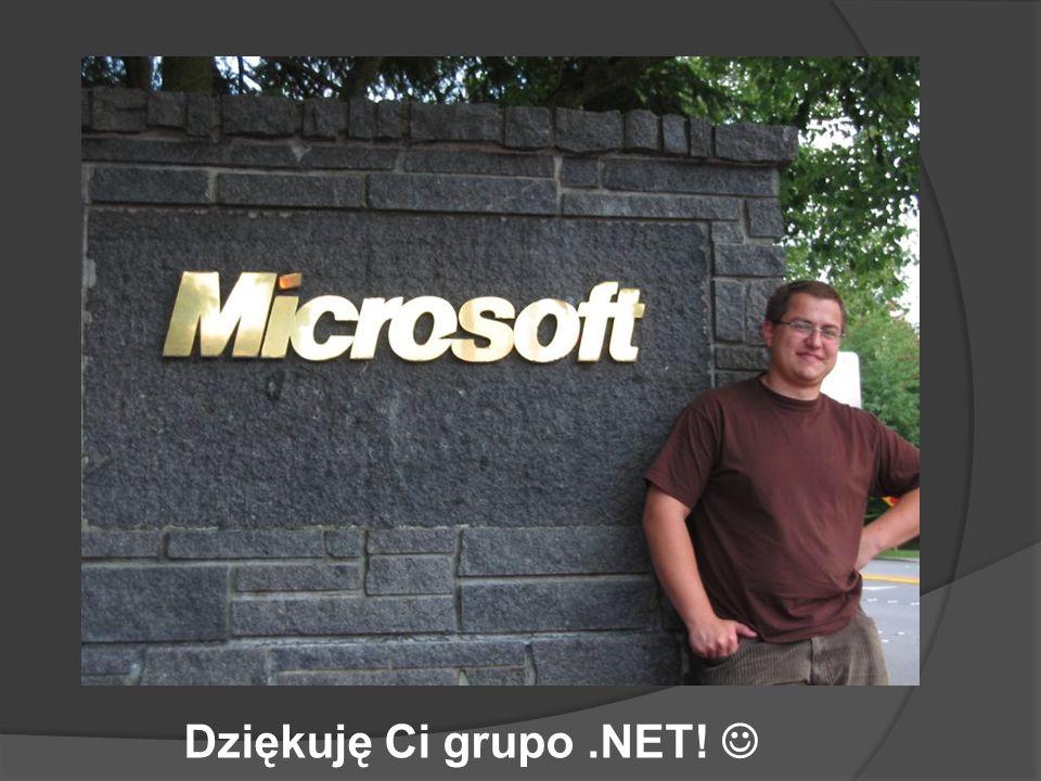 Dziękuję Ci grupo.NET!