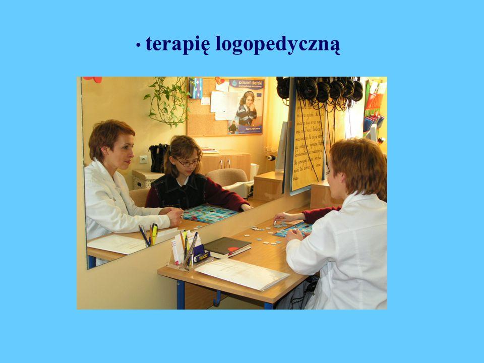 terapię logopedyczną