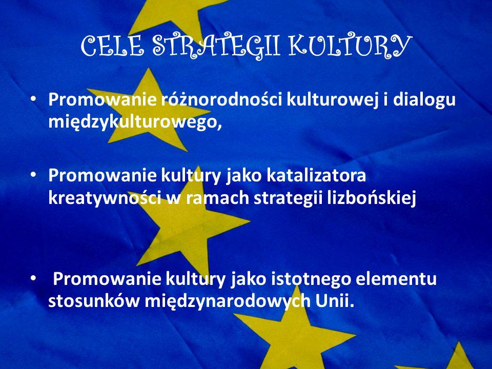 CELE STRATEGII KULTURY Promowanie różnorodności kulturowej i dialogu międzykulturowego, Promowanie kultury jako katalizatora kreatywności w ramach str