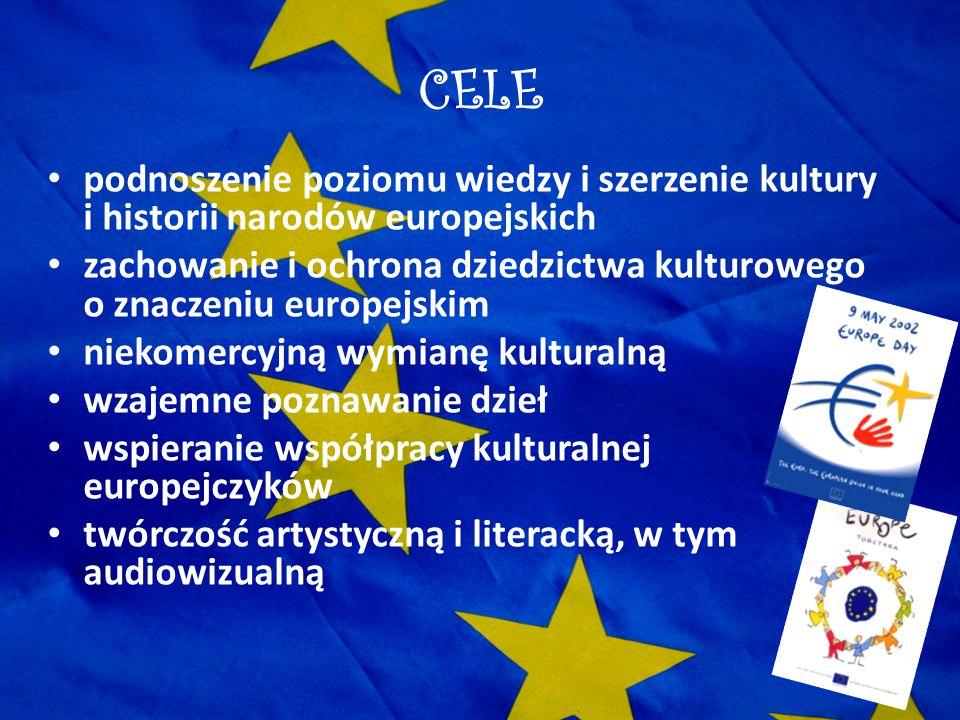 CELE podnoszenie poziomu wiedzy i szerzenie kultury i historii narodów europejskich zachowanie i ochrona dziedzictwa kulturowego o znaczeniu europejsk