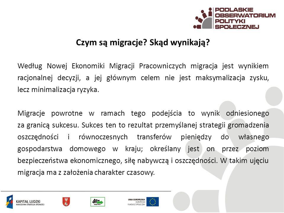 Czym są migracje? Skąd wynikają? Według Nowej Ekonomiki Migracji Pracowniczych migracja jest wynikiem racjonalnej decyzji, a jej głównym celem nie jes