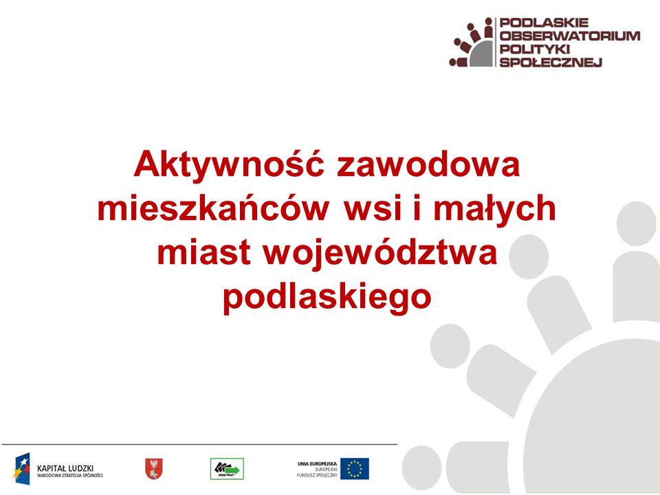 Aktywność zawodowa mieszkańców wsi i małych miast województwa podlaskiego