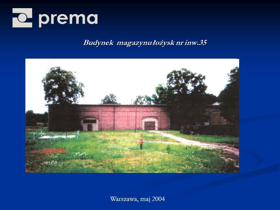 Budynek magazynu łożysk nr inw.35 Warszawa, maj 2004
