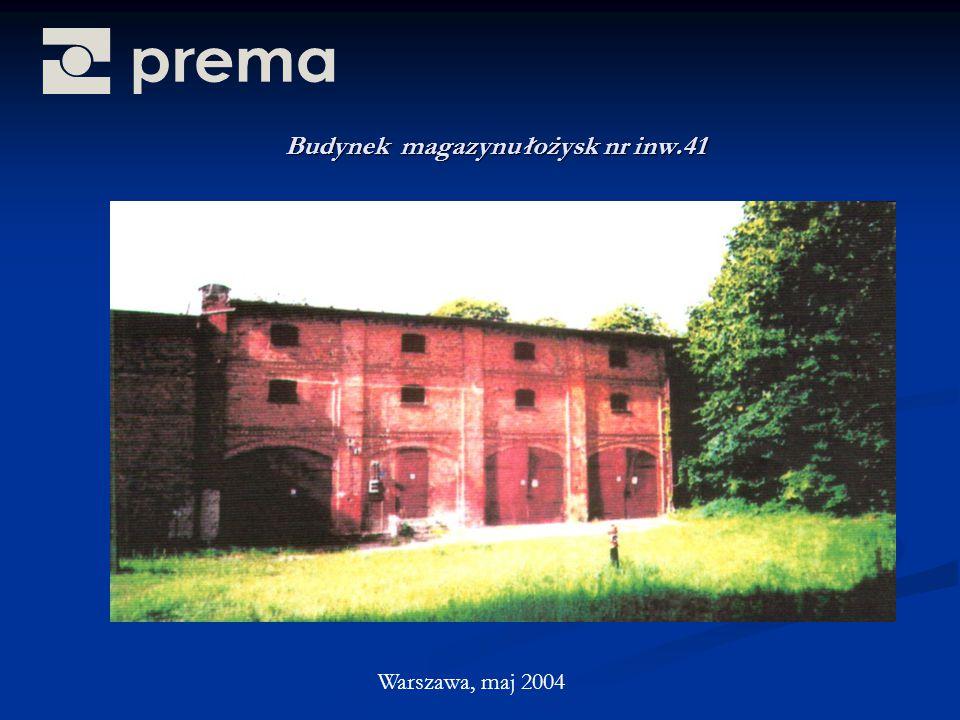 Budynek magazynu łożysk nr inw.41 Warszawa, maj 2004