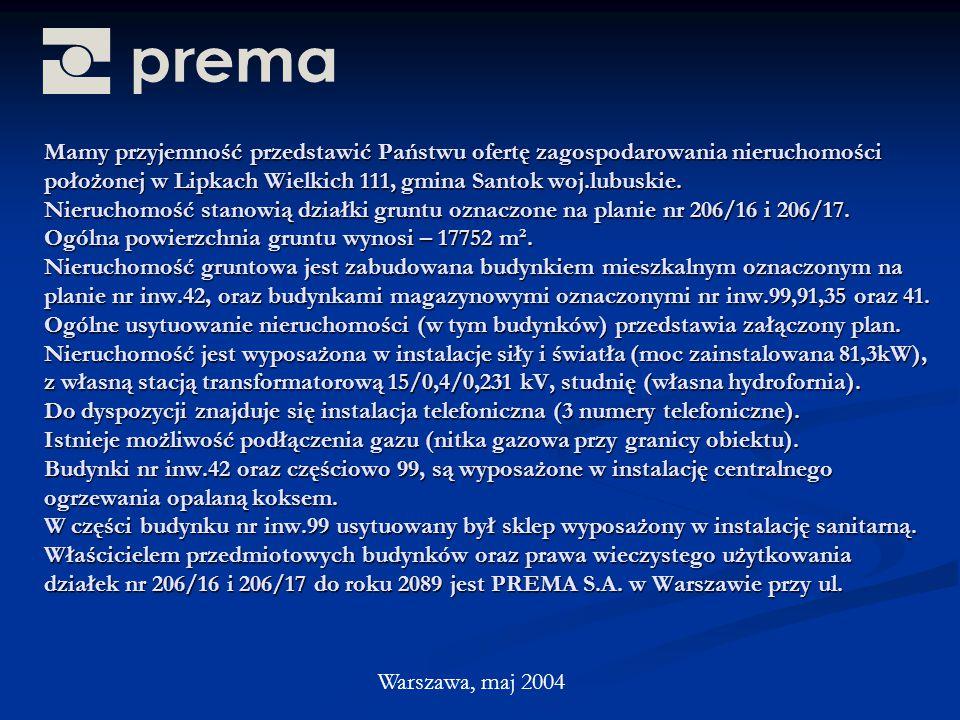 Mamy przyjemność przedstawić Państwu ofertę zagospodarowania nieruchomości położonej w Lipkach Wielkich 111, gmina Santok woj.lubuskie.
