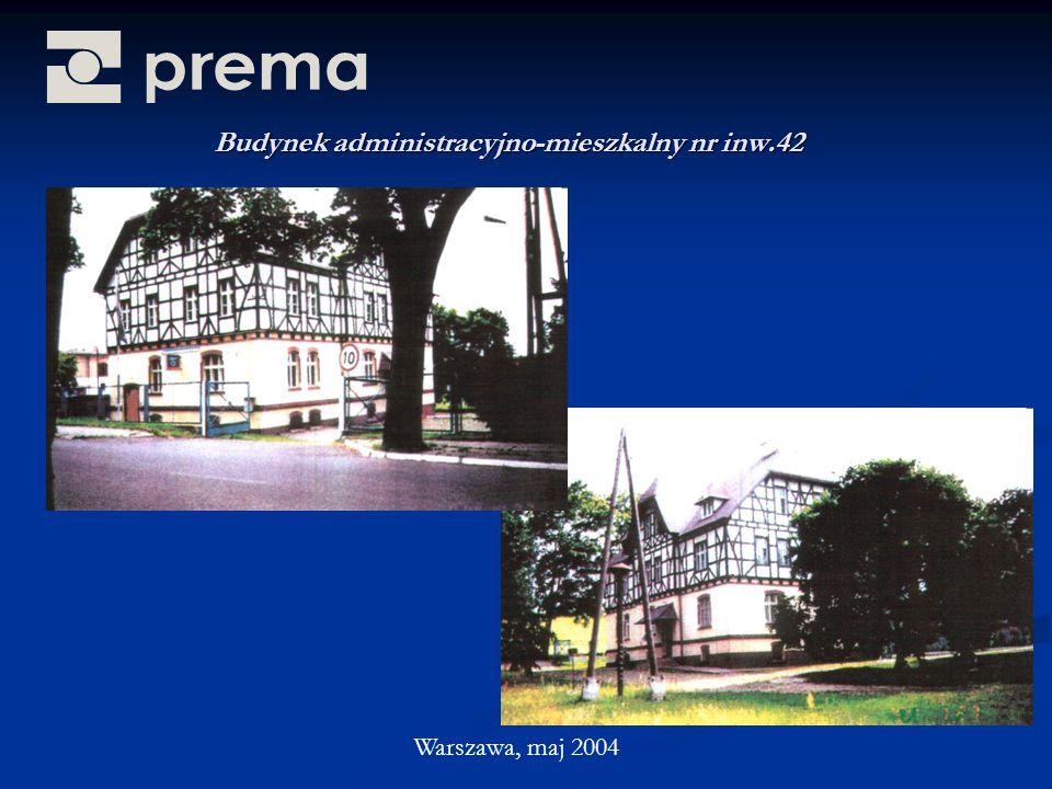 Budynek administracyjno-mieszkalny nr inw.42 Warszawa, maj 2004
