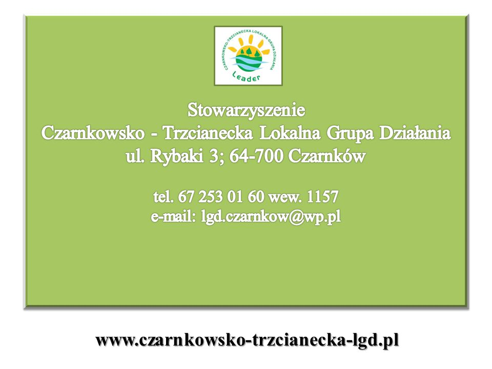 www.czarnkowsko-trzcianecka-lgd.pl