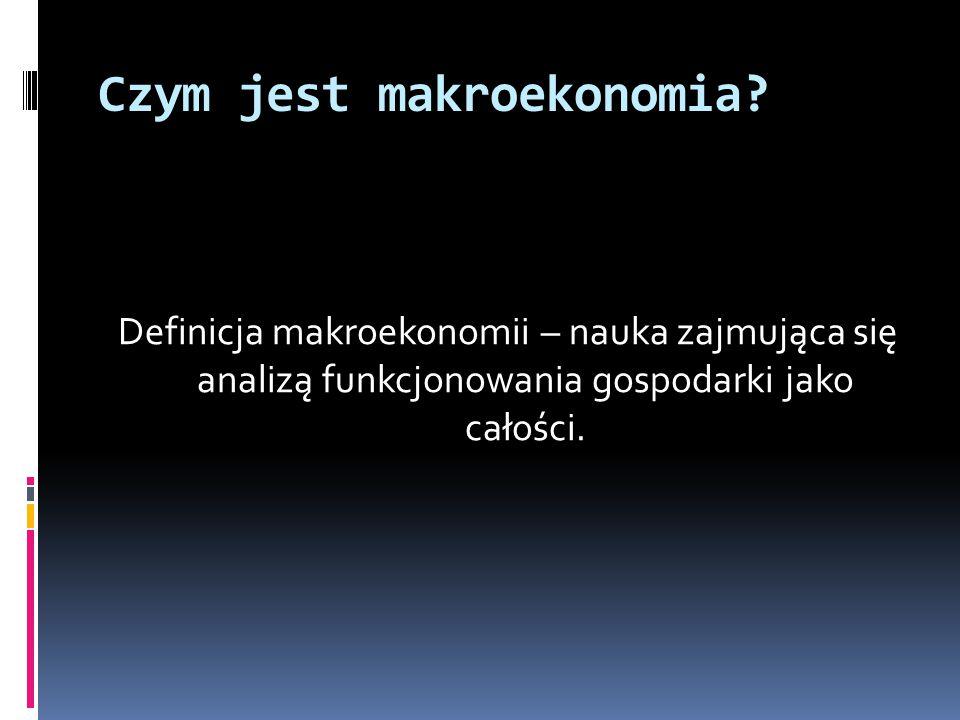 Definicja makroekonomii – nauka zajmująca się analizą funkcjonowania gospodarki jako całości.