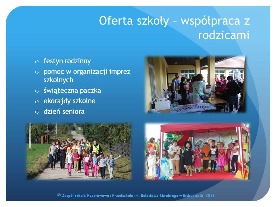 Oferta szkoły – współpraca z rodzicami © Zespół Szkoła Podstawowa i Przedszkole im. Bolesława Chrobrego w Biskupicach '2011 o festyn rodzinny o pomoc