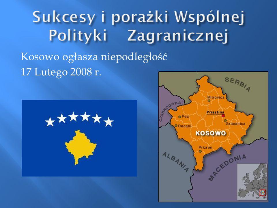 Kosowo ogłasza niepodległość 17 Lutego 2008 r.