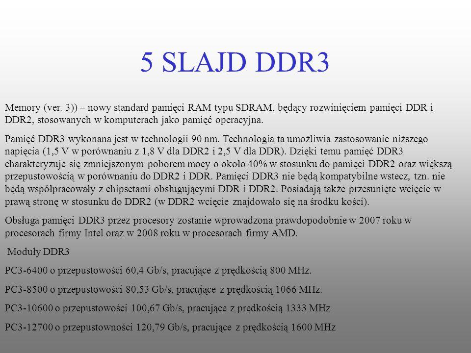 5 SLAJD DDR3 Memory (ver. 3)) – nowy standard pamięci RAM typu SDRAM, będący rozwinięciem pamięci DDR i DDR2, stosowanych w komputerach jako pamięć op