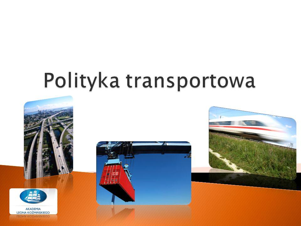  Celowe przemieszczanie ludzi i przedmiotów za pomocą środków, zwanych środkami transportu  Umożliwia wymianę dóbr i współprace między jednostkami gospodarczymi oraz oddzielnymi regionami kraju, przyczyniając się do ich rozwoju