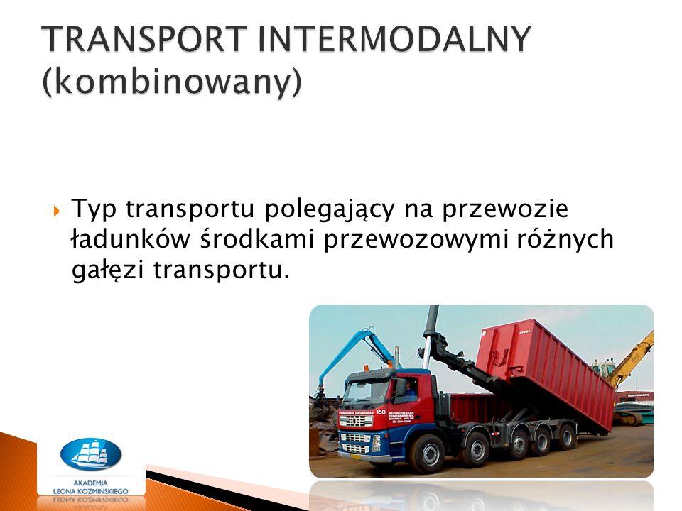  Obniżka kosztów transportowych  Zapewnienie szybkiego i terminowego dostarczenia ładunku zwłaszcza w przewozie międzynarodowym  Zmniejszenie ryzyka uszkodzenia towaru  Zwiększenie możliwości jednorazowego przewozu większej partii ładunku  Podniesienie dostępności i jakości usług transportowych  Wzrost liczby możliwych sposobów przewozowych  Możliwość zastosowania różnych sposobów załadunku i rozładunku.