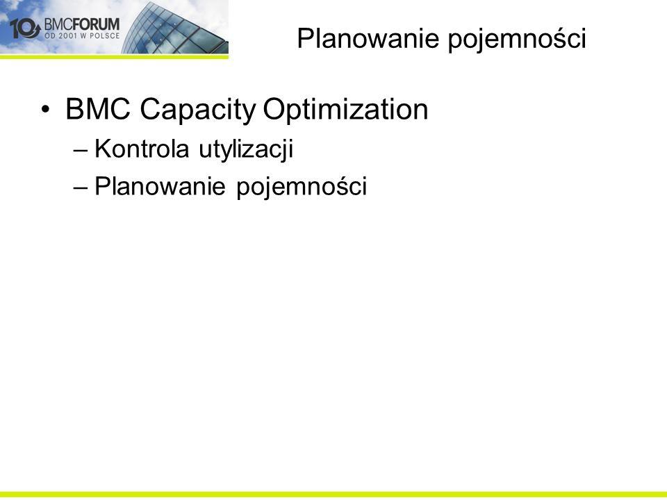 Integracje –Narzędzia automatyzacji – BMC BladeLogic, BMC Atrium Orchestrator –Narzędzia ITSM - BMC Remedy Service Desk, Atrium CMDB –Narzędzia analityczne – BMC AppSight, BMC Middleware Management –Narzędzia planowania pojemności – BMC Capacity Optimization