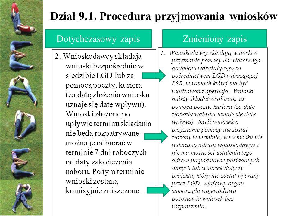 Dział 9.1. Procedura przyjmowania wniosków 3.