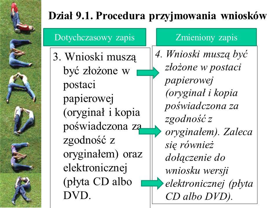 Dział 9.1. Procedura przyjmowania wniosków 4.