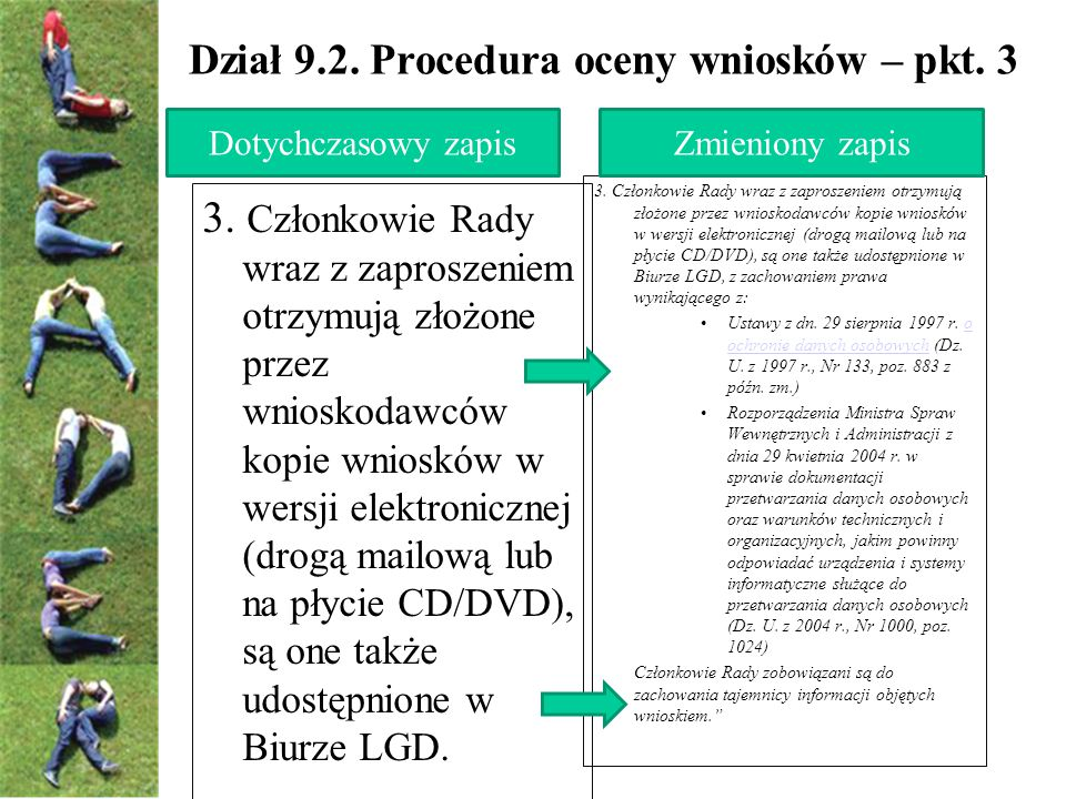 Dział 9.2. Procedura oceny wniosków – pkt. 3 3.
