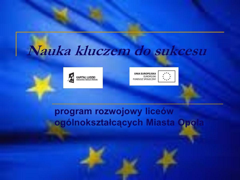 Nauka kluczem do sukcesu program rozwojowy liceów ogólnokształcących Miasta Opola