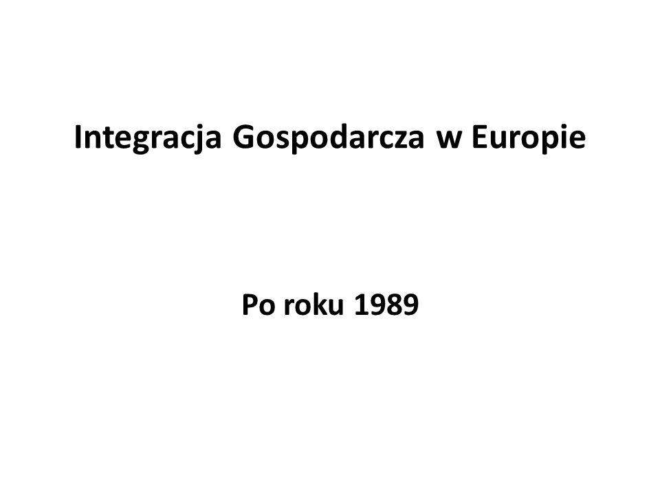 Integracja Gospodarcza w Europie Po roku 1989