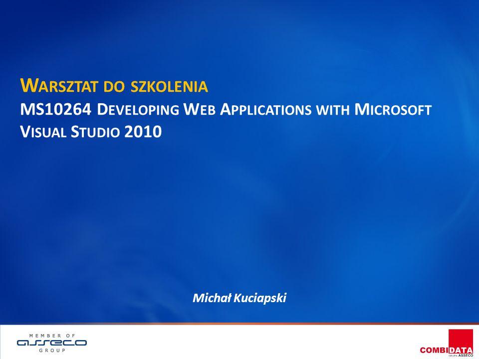P RZYGOTOWANIE DO EGZAMINU 1.Dane egzaminu: Exam 70-515 - Web Applications Development with Microsoft.NET Framework 4 2.Kursy przygotowujące:  MS 10264 - Developing Web Applications with Microsoft Visual Studio 2010 MS 10267 - Maintaining a Microsoft SQL Server 2008 R2 Database 3.Informacje o egzaminach.NET –  Dane - http://www.microsoft.com/learning/en/us/visual-studio- certification.aspx  Rejestracja - http://www.register.prometric.com 4.Przykładowe egzaminy  Najtaniej - http://www.examcollection.com 2COMBIDATA Poland | Dostawca kompleksowych rozwiązań edukacyjnych