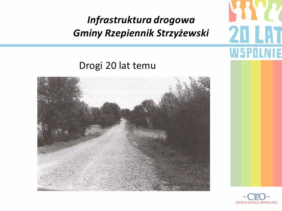 Infrastruktura drogowa Gminy Rzepiennik Strzyżewski Drogi 20 lat temu