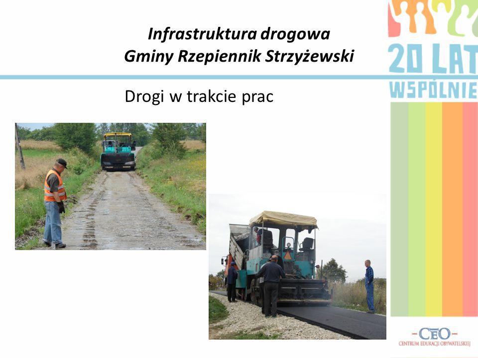 Infrastruktura drogowa Gminy Rzepiennik Strzyżewski Drogi w trakcie prac