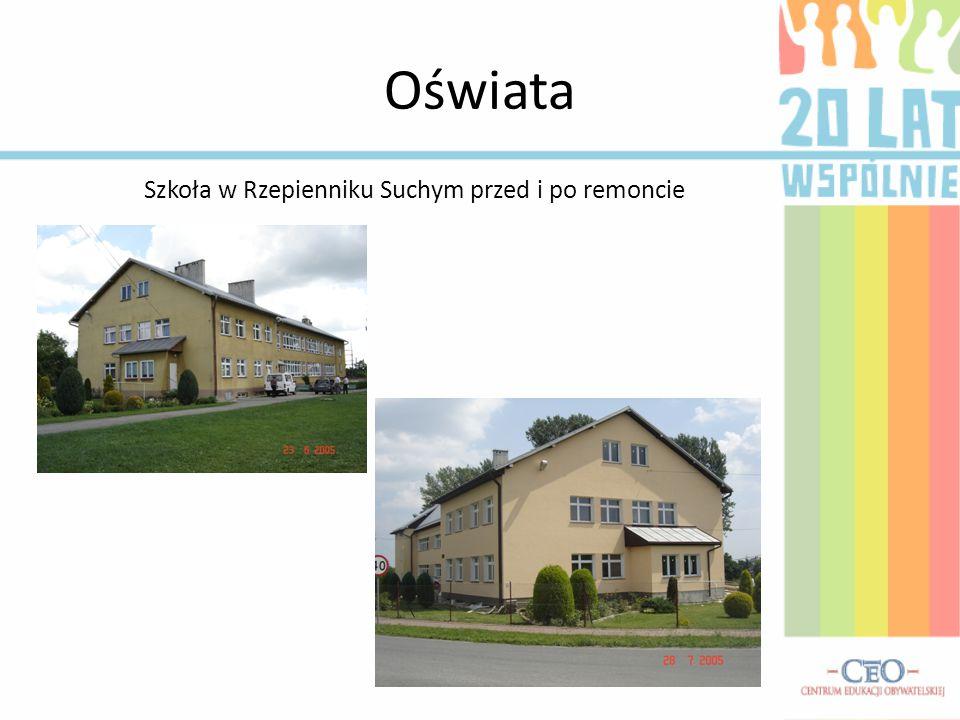Oświata Szkoła w Rzepienniku Suchym przed i po remoncie