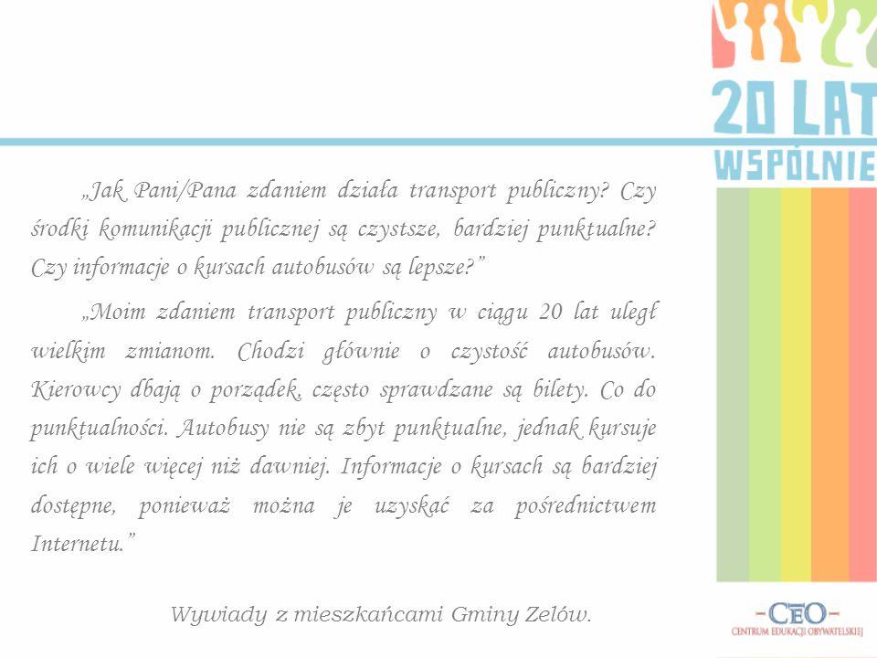 """""""Jak Pani/Pana zdaniem działa transport publiczny."""