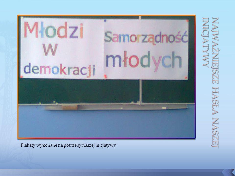 Plakaty wykonane na potrzeby naszej inicjatywy